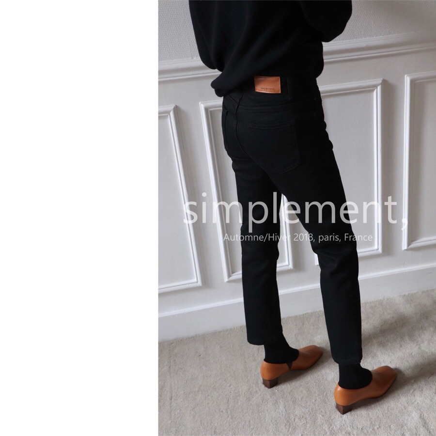 simplement, 080 Loyal Black Jeans