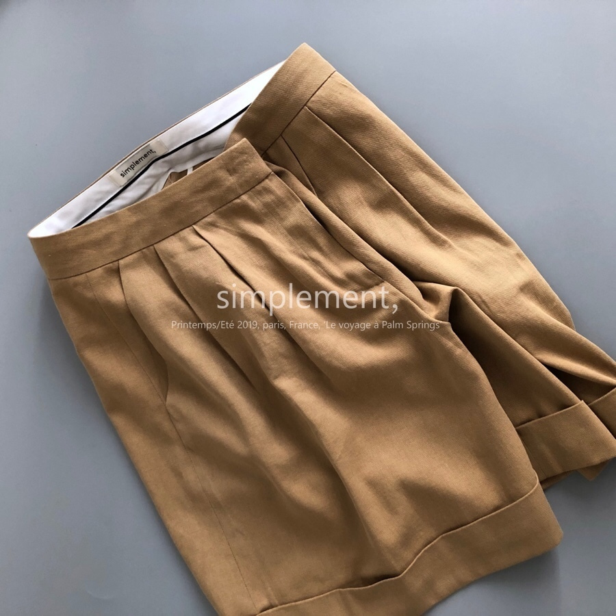 090 Garconne Shors in Dark Beige
