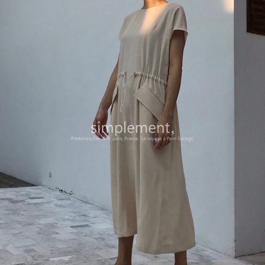 101 Juillet Dress in Beige