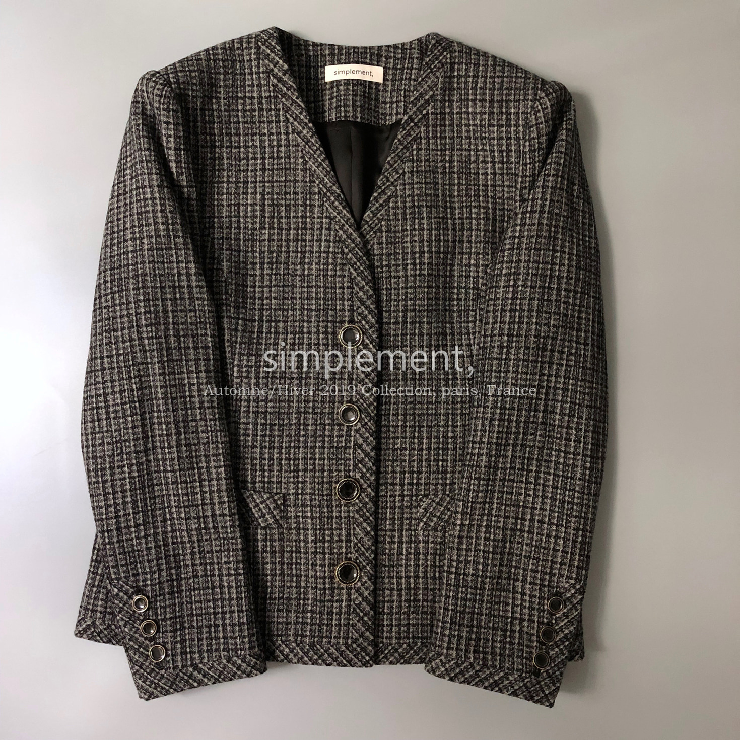 110 Jackie jacket in Gray