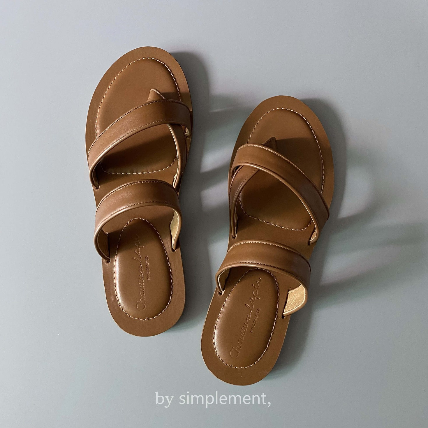 Utile Sandal by simplement, in Brown