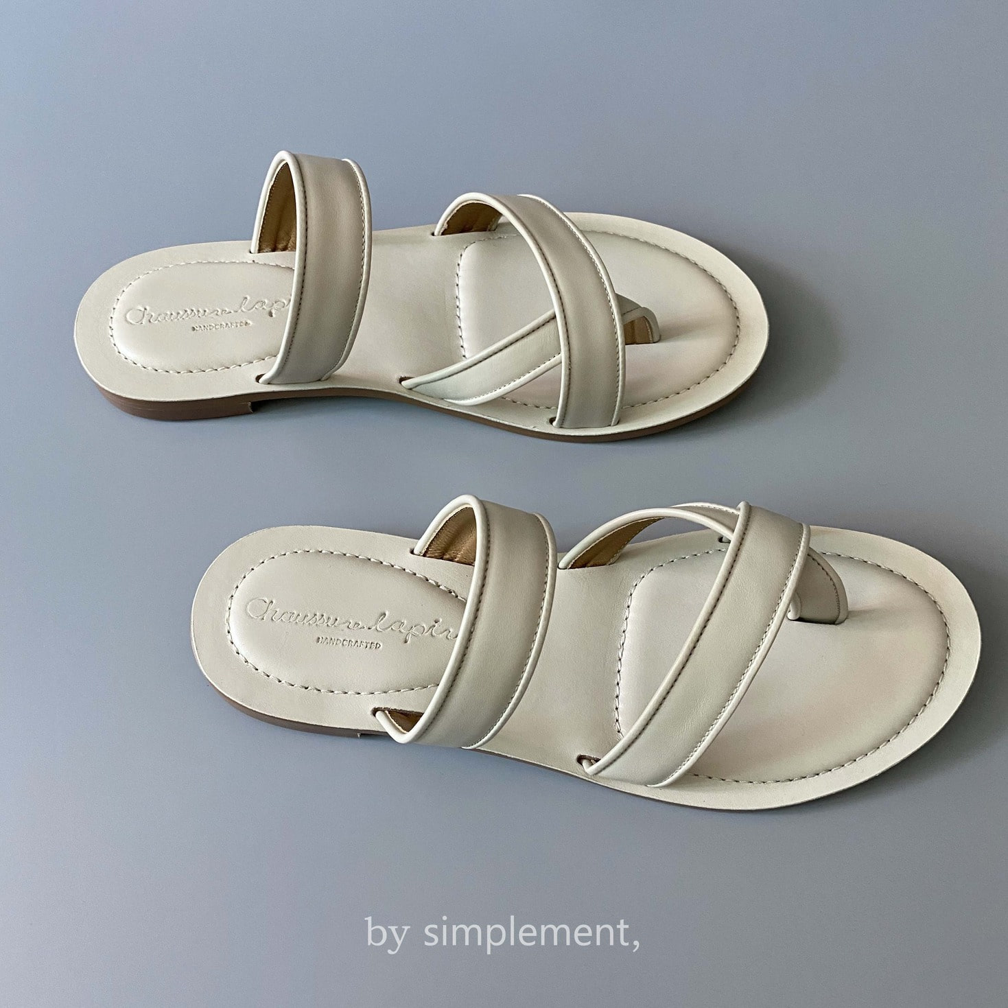 Utile Sandal by simplement, in Ivory