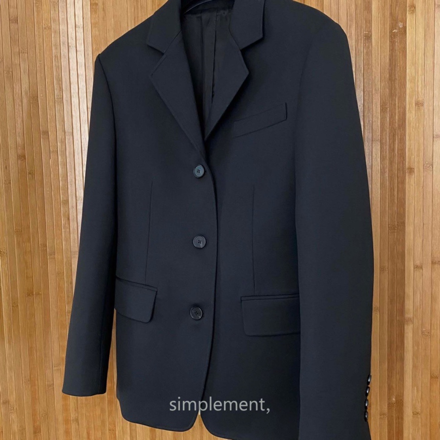 160 Homme Classic Jacket in Black