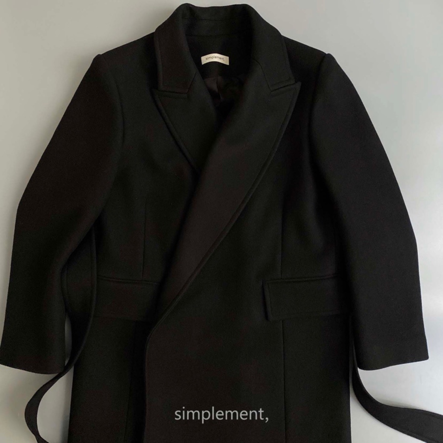 166 Andre Classic Coat in Black