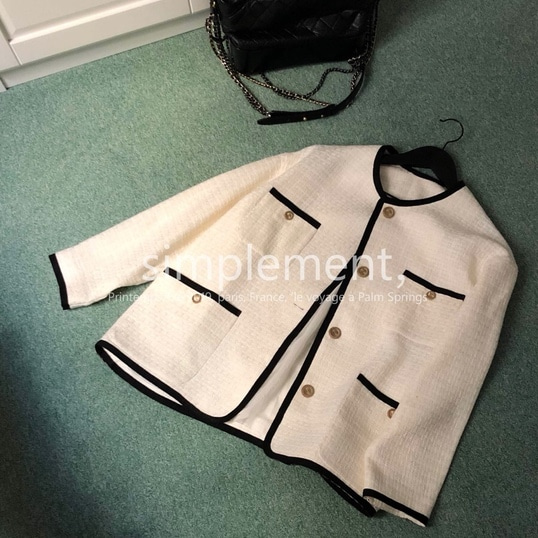 086 Amell Tweed Jacket in Ivory