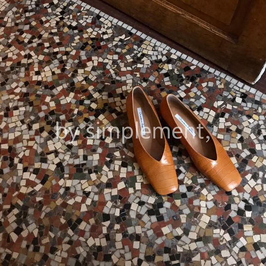 Comme Pumps by simplement, in Pumpkin