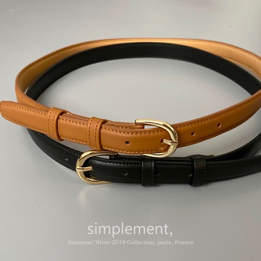 123 Discret leather Belt