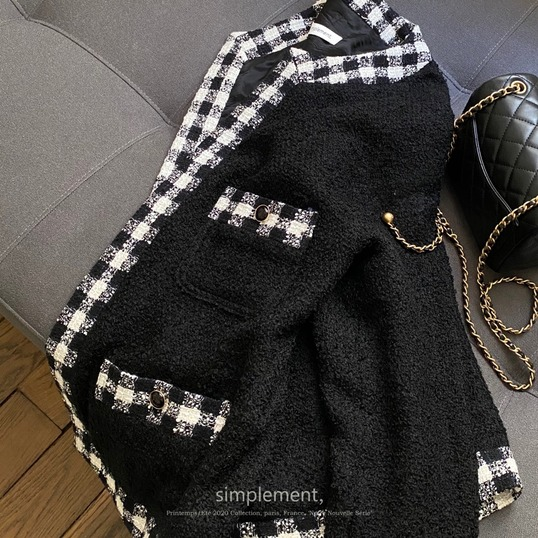 129 Maison Tweed Jacket in Black