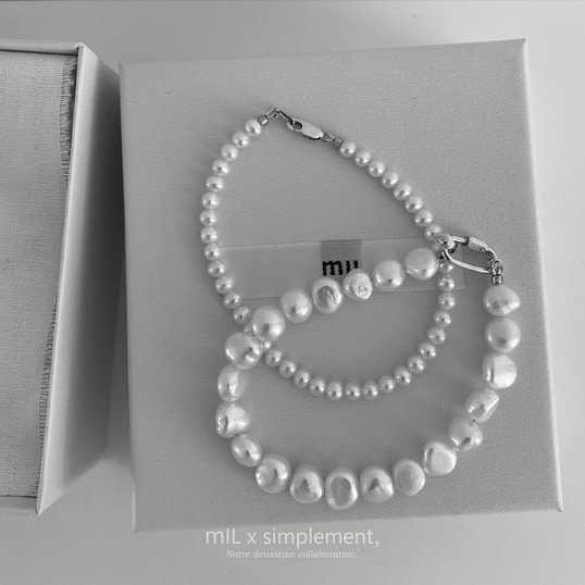 mIL x simplement, Baroque Freshwater-Pearl Anklet