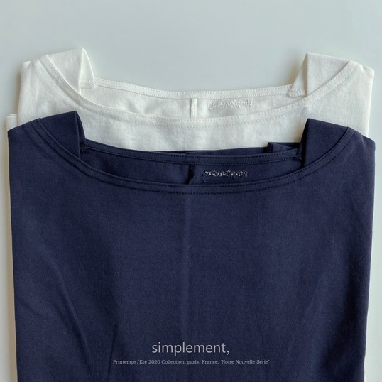 136 Saint-Tropez Boat neck T-shirt