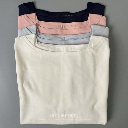 136 Saint-tropez Boat neck T-shirt (new colors)