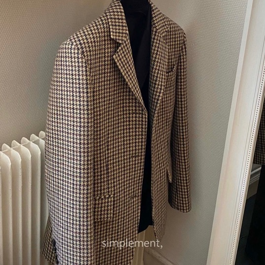 160 Homme Classic Jacket in Check