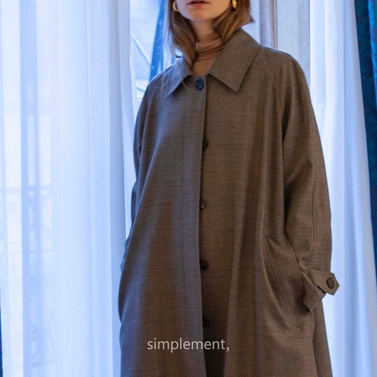 161 Grace wool Trench