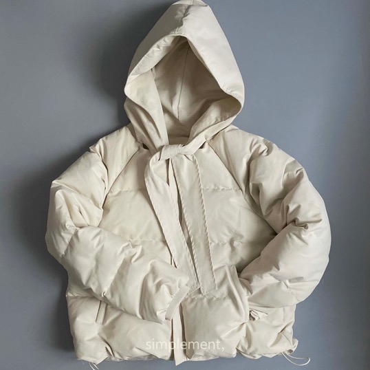 170 Camillie Hooded Doudoune in Ecru