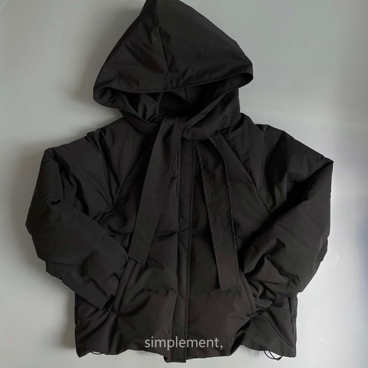 170 Camillie Hooded Doudoune in Black