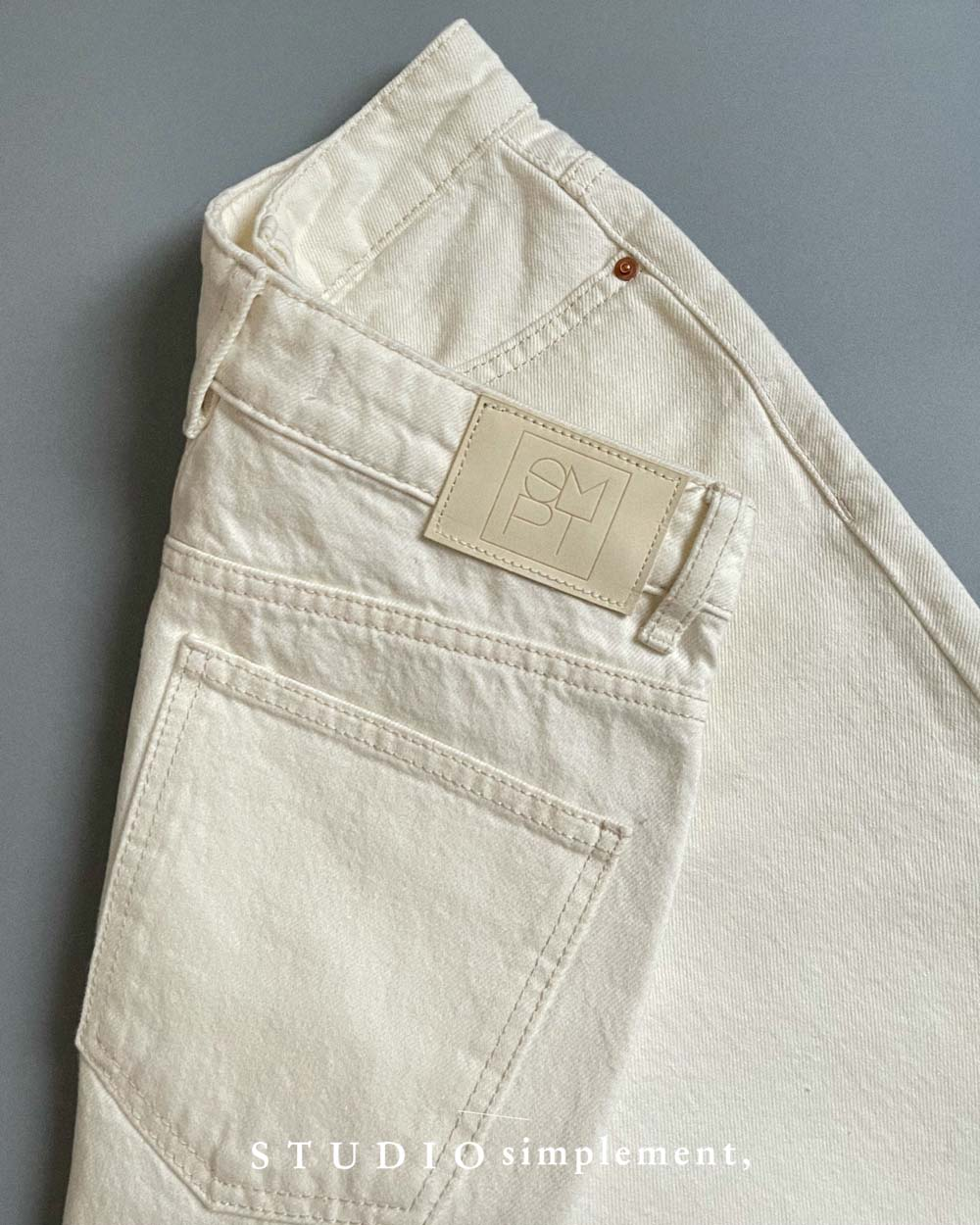 180 Pigalle White Jeans (CONE DENIM MILLS)